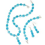 Photo of a jewelry set including necklace, earrings and bracelet