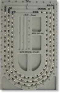 Photo of the beads in place on the bead board.