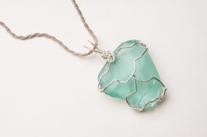 Seaglass in Wire Wrap